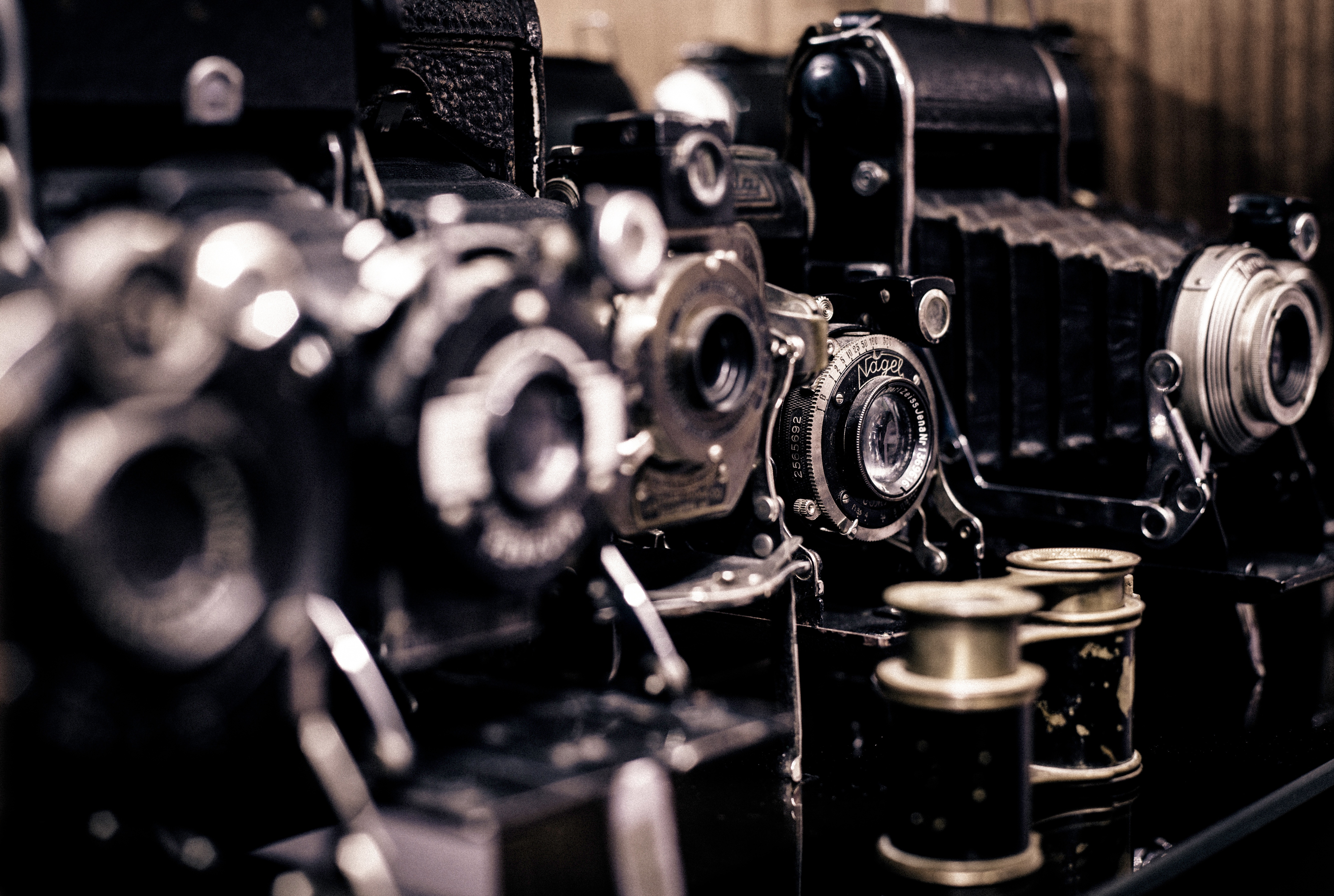 old cameras, photography, photographic camera, photos, vintage