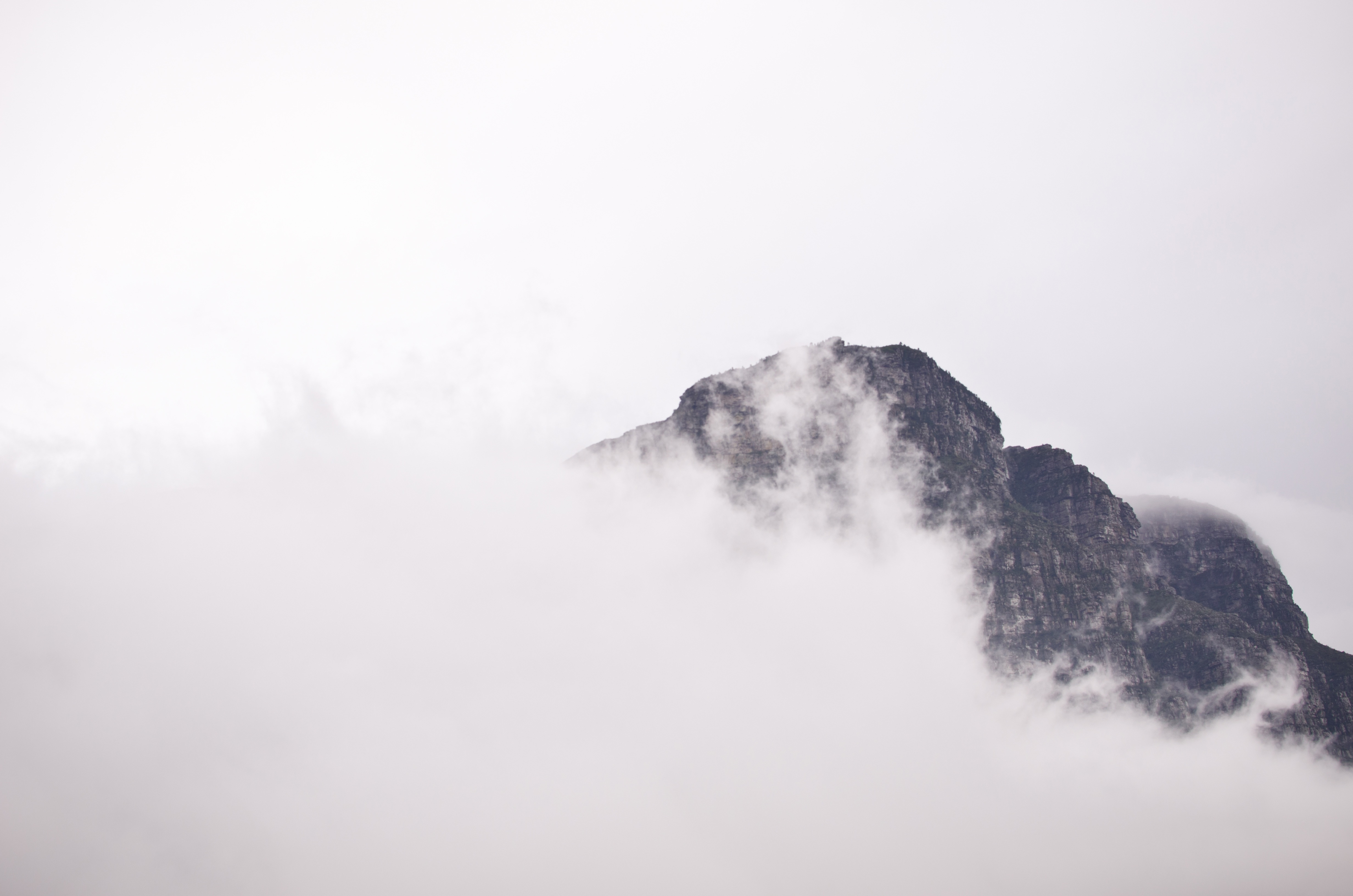 Above the clouds, mountains, clouds, fog, rocks, peak, summit, height