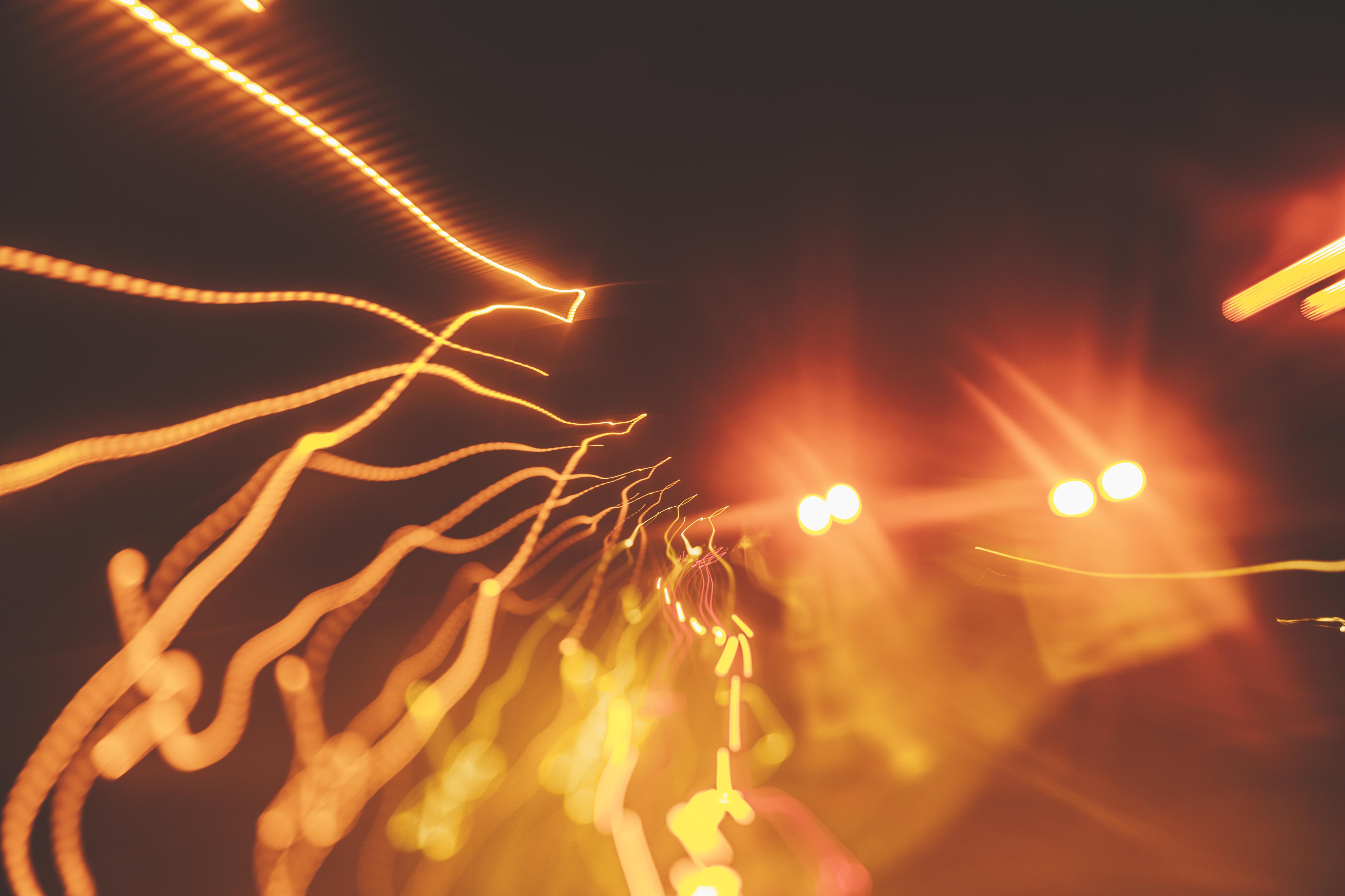 Blurred Light, lights, road, asphalt, cars, lights, speed