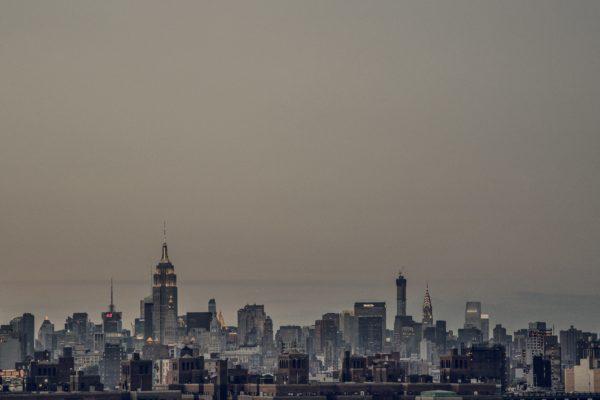 New york, manhattan, city, skyscrapers, metropolis, buildings, density, white and black