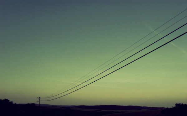 STAY CALM by othum, cables, sunset, green, posts, connect, connected, route