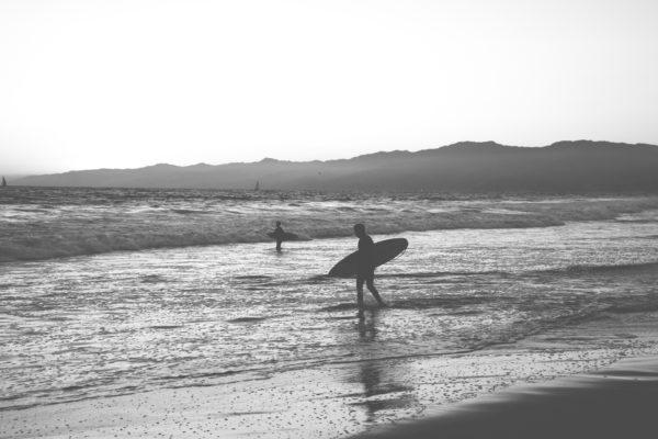 Surfer, waves, sea, ocean, beach, freedom, surf, sunset