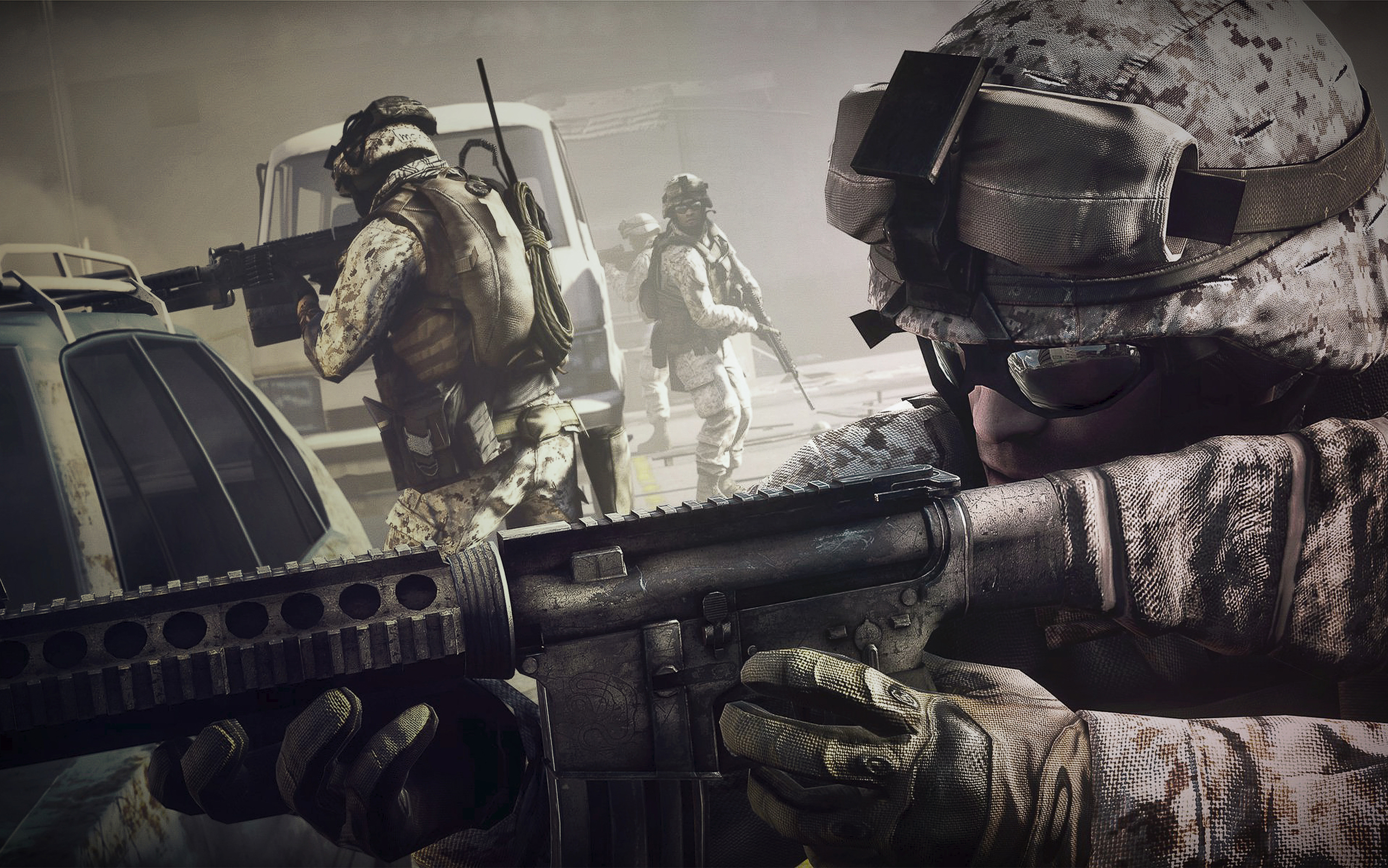 Battlefield 3, games, video games, war, fire, soldiers, weapons
