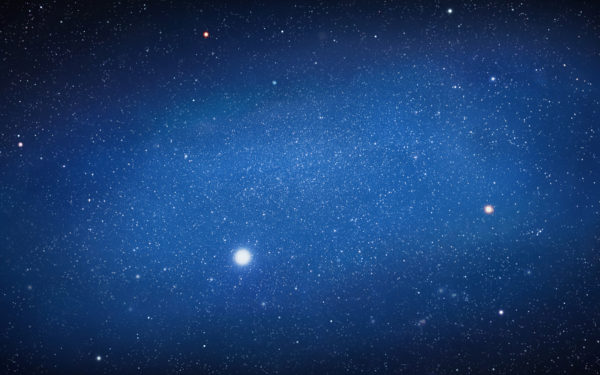Andromeda is Gone by luccaspaivasilva, galaxy, stars, universe, blue, andromeda, space
