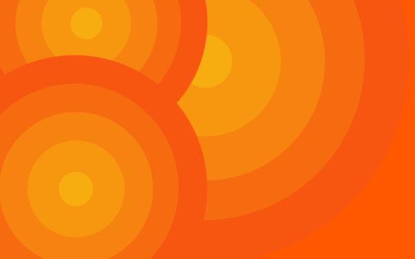 Harmony Orange by nitinchamp, circles, degrade, orange, yellow