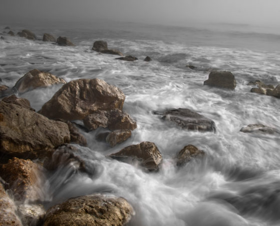 Ocean, rocks, beach, shore, waves, crashing waves, coast
