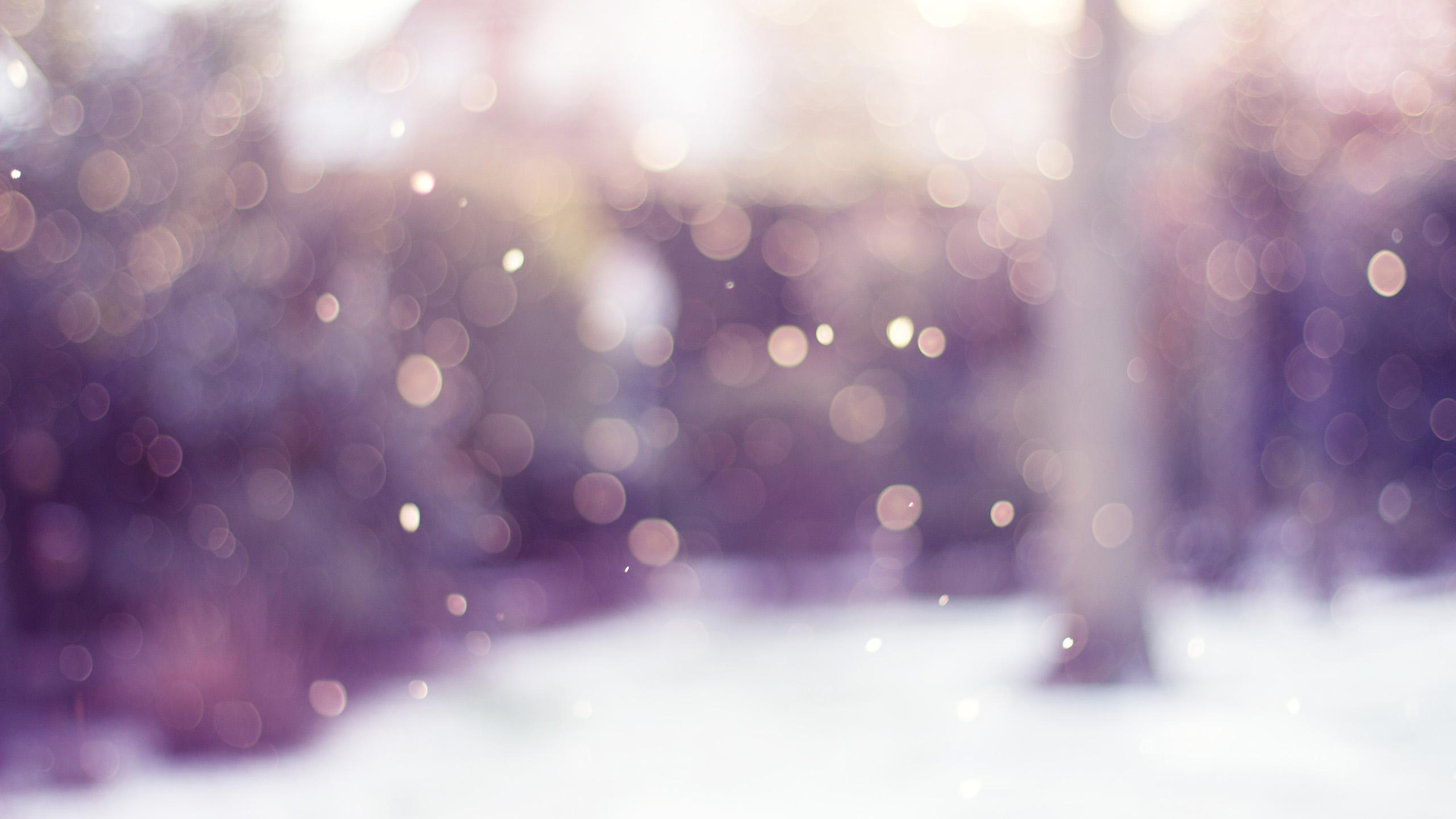 Flurry by CayaStrife, lilac, violet, unfocused, snow, lluevia