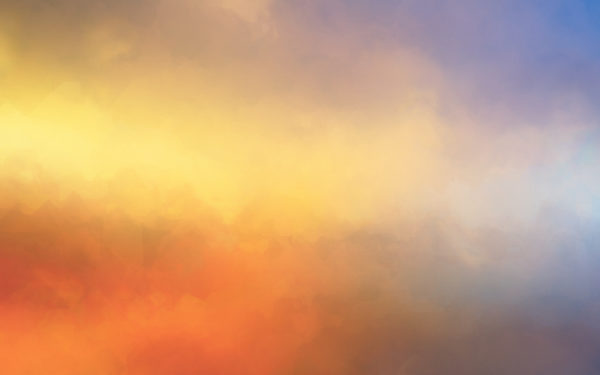 High Above by SimekOneLove, fog, clouds, orange, sky, abstract, digital art