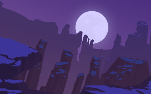 Canyon by Puscifer91, vector, design, drawing, lilac, 2d, Grand Canyon, violet
