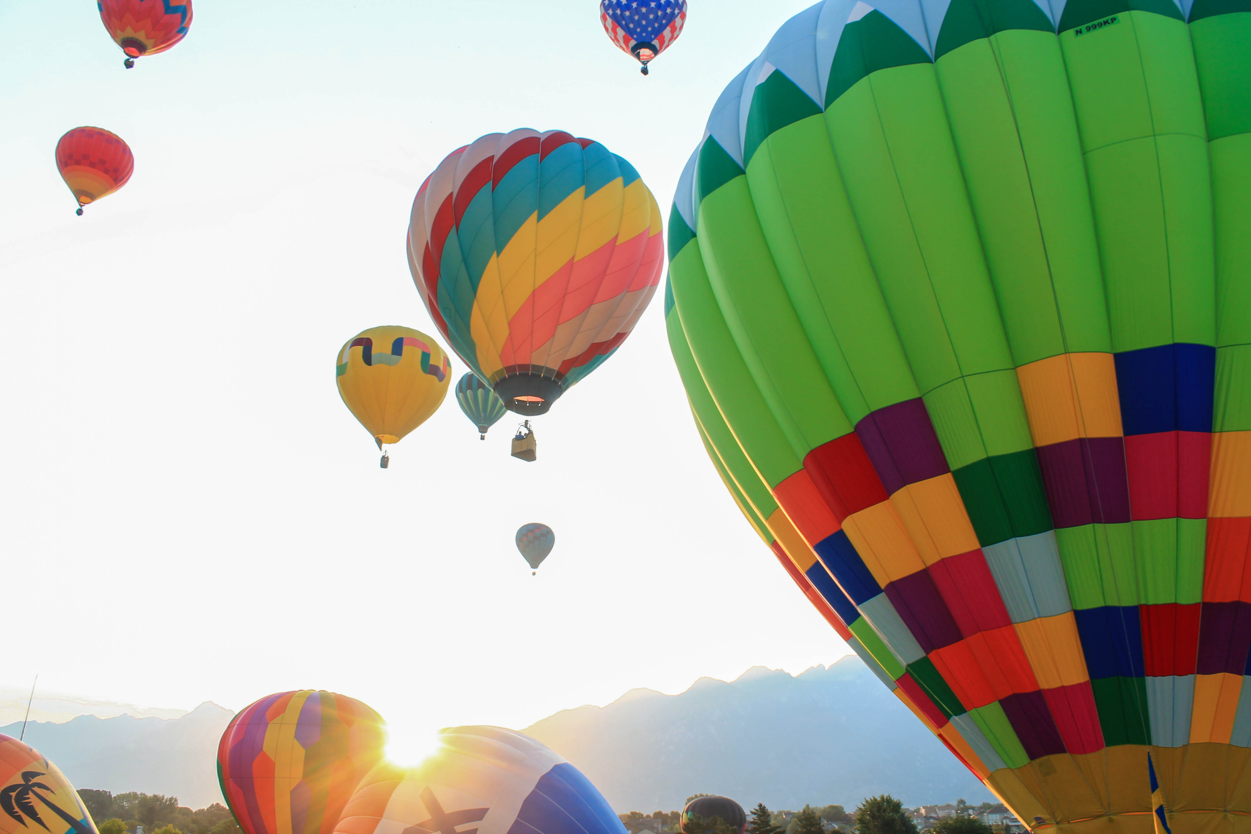 Balloons, balloons, helium, flying, wind, colors, hot air balloons, sky