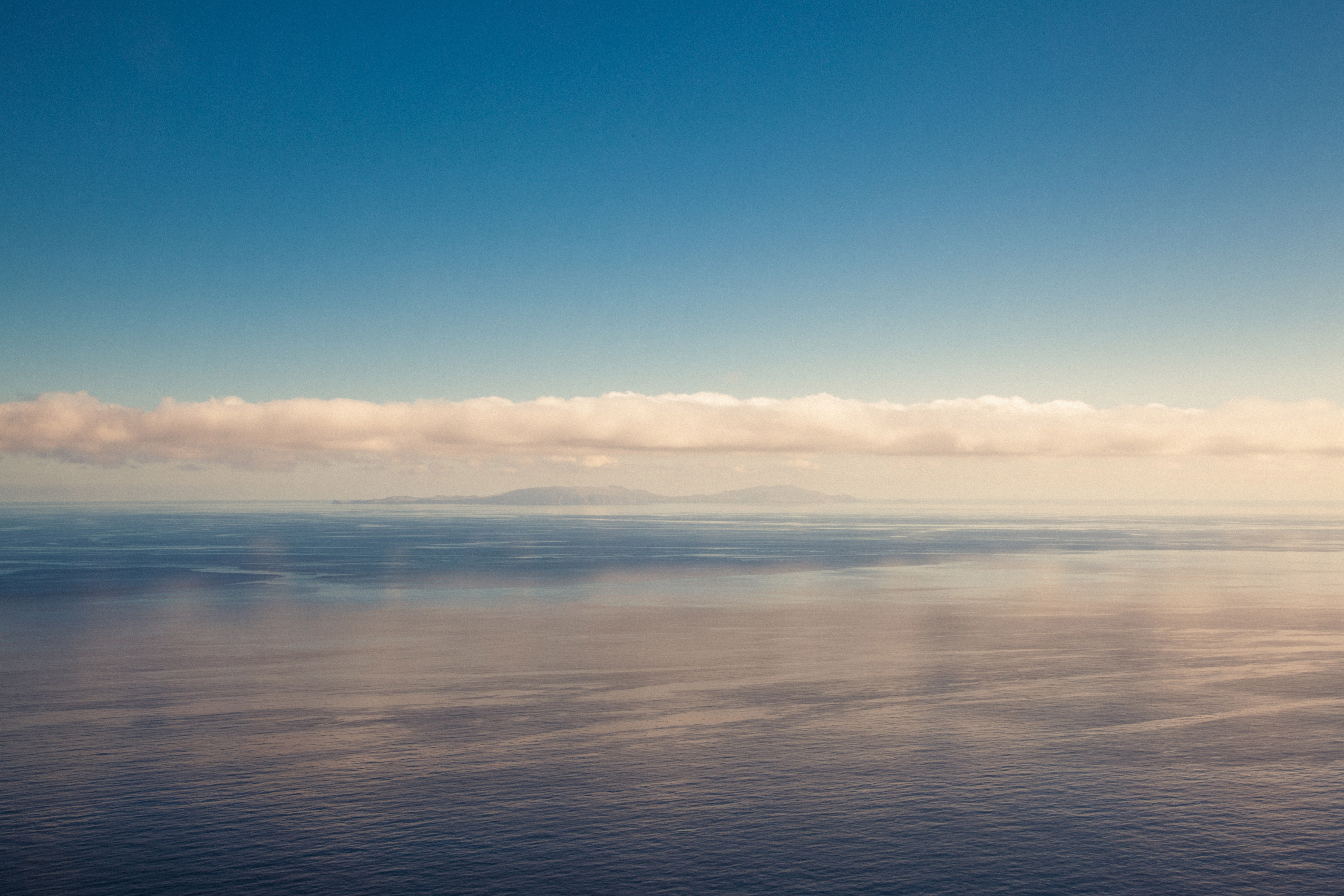 Infinite ocean, reflection, clouds, sky, infinite, mirror, sea, horizon, water, sky, clouds