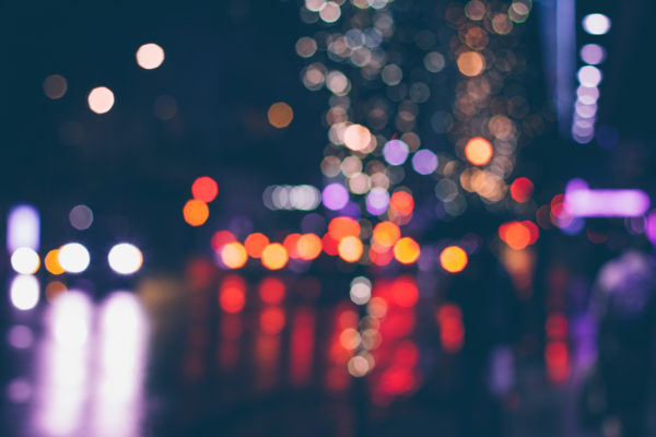 Lights and colors of the night, night, lights, blurry, dark, city, streets, roads, street cars