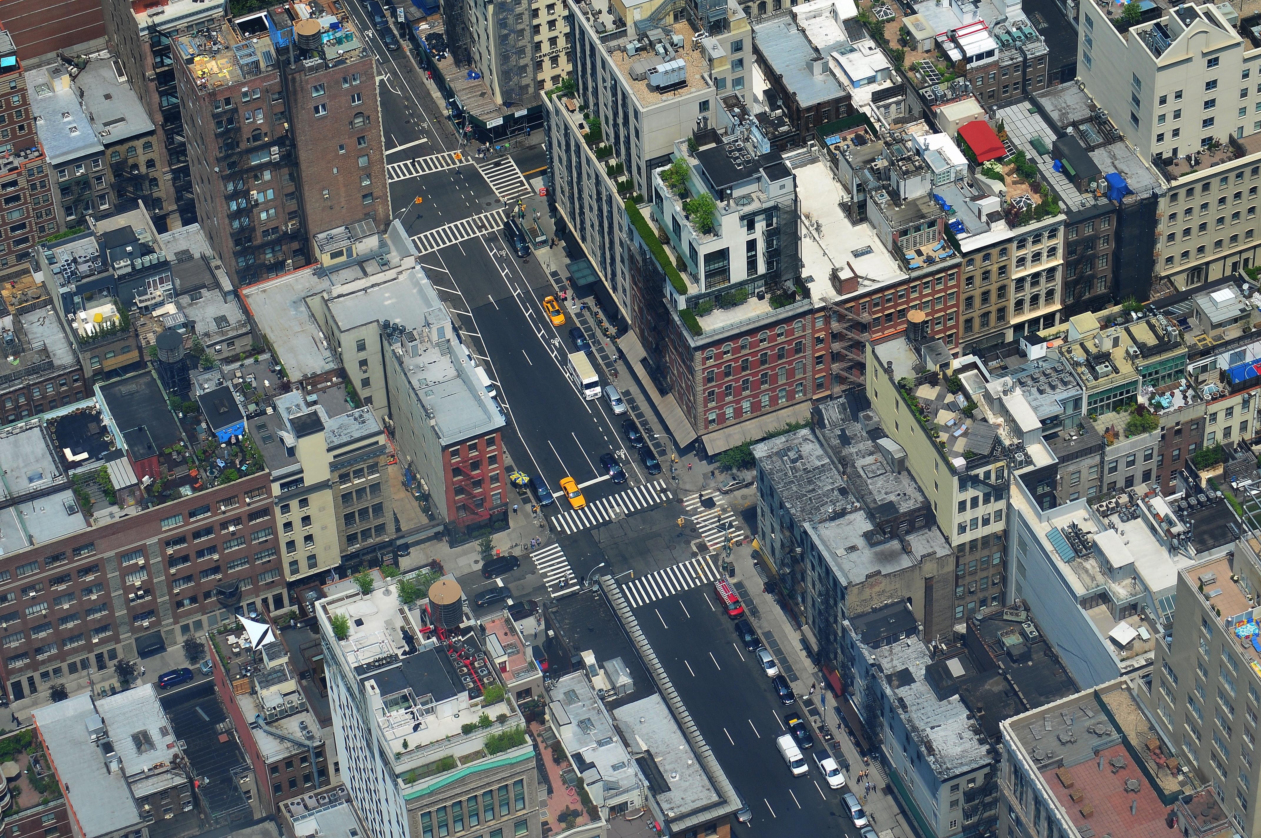Manhattan, new york, roofs, terraces, buildings, brooklyn, city