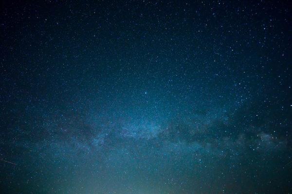 Infinite space, blue, stars, space, infinity, galaxy, outside, nebula