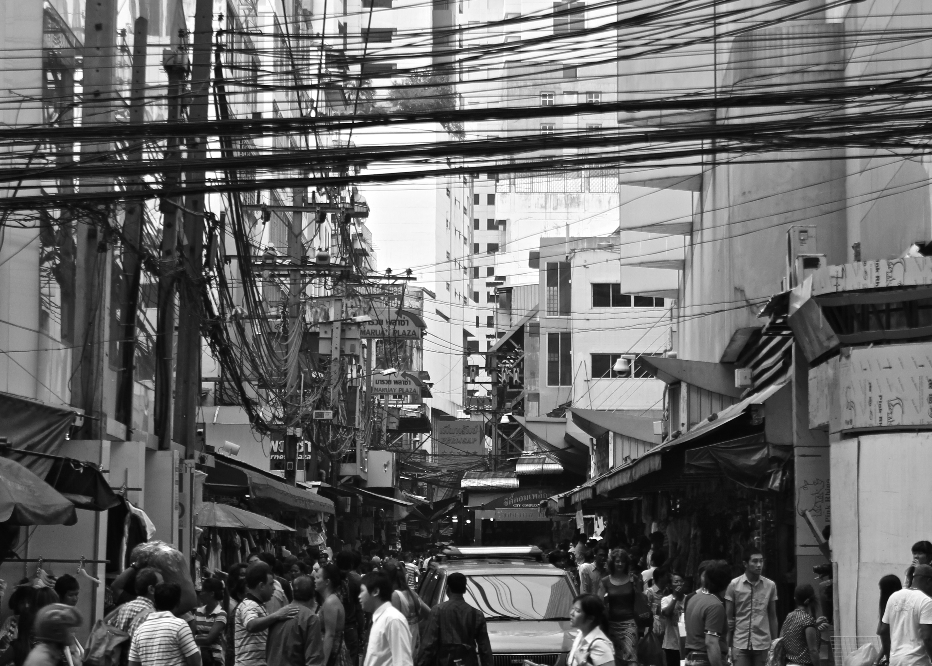 People on the street, china, people, crowd, busy, streets, city, pedestrians, buildings, architecture, black and white