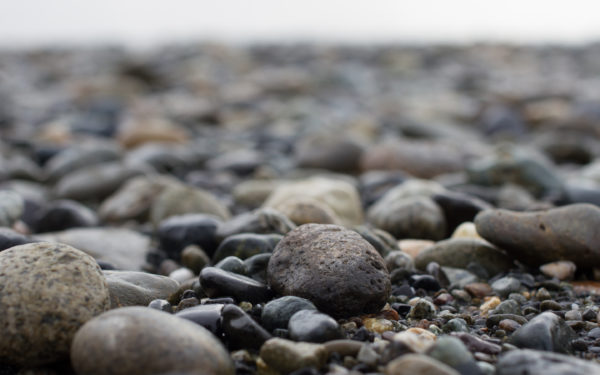 On the Rocks by Erin Slonaker, rocks, pebbles, beach, shore, water, wet, cold
