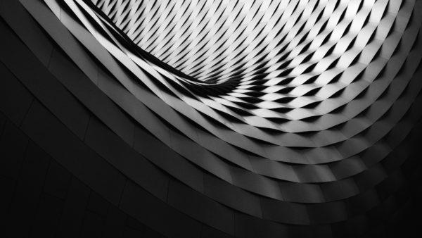 Scales, architecture, design, black and white, metal