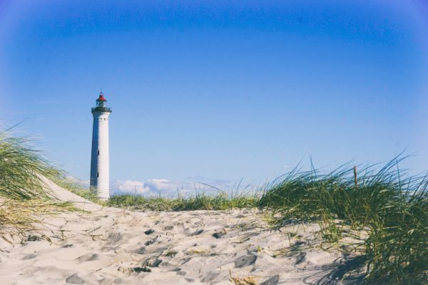Lighthouse on the beach, alone, lighthouse, sand, beach, sea, water