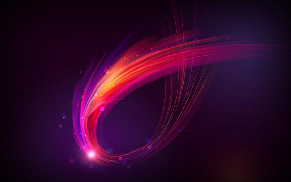 Wrap, abstract, light, movement, digital art, design, sparkles
