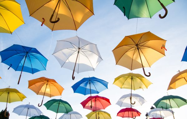 Colorful umbrella, umbrella, colors, colorful, decoration, decorate, outside