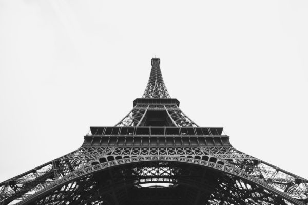 Eiffel Tower in perspective, photography Eiffel Tower Eiffel Tower from below, France, Paris