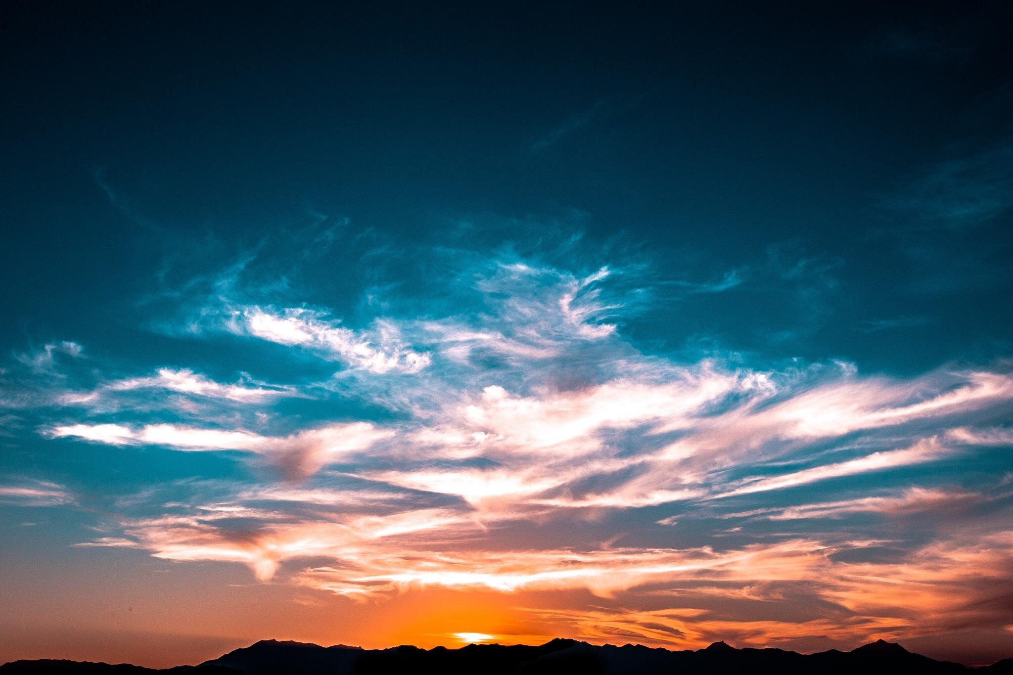 Amazing sky at sunset, light, sun, sky, clouds, sunset, colors