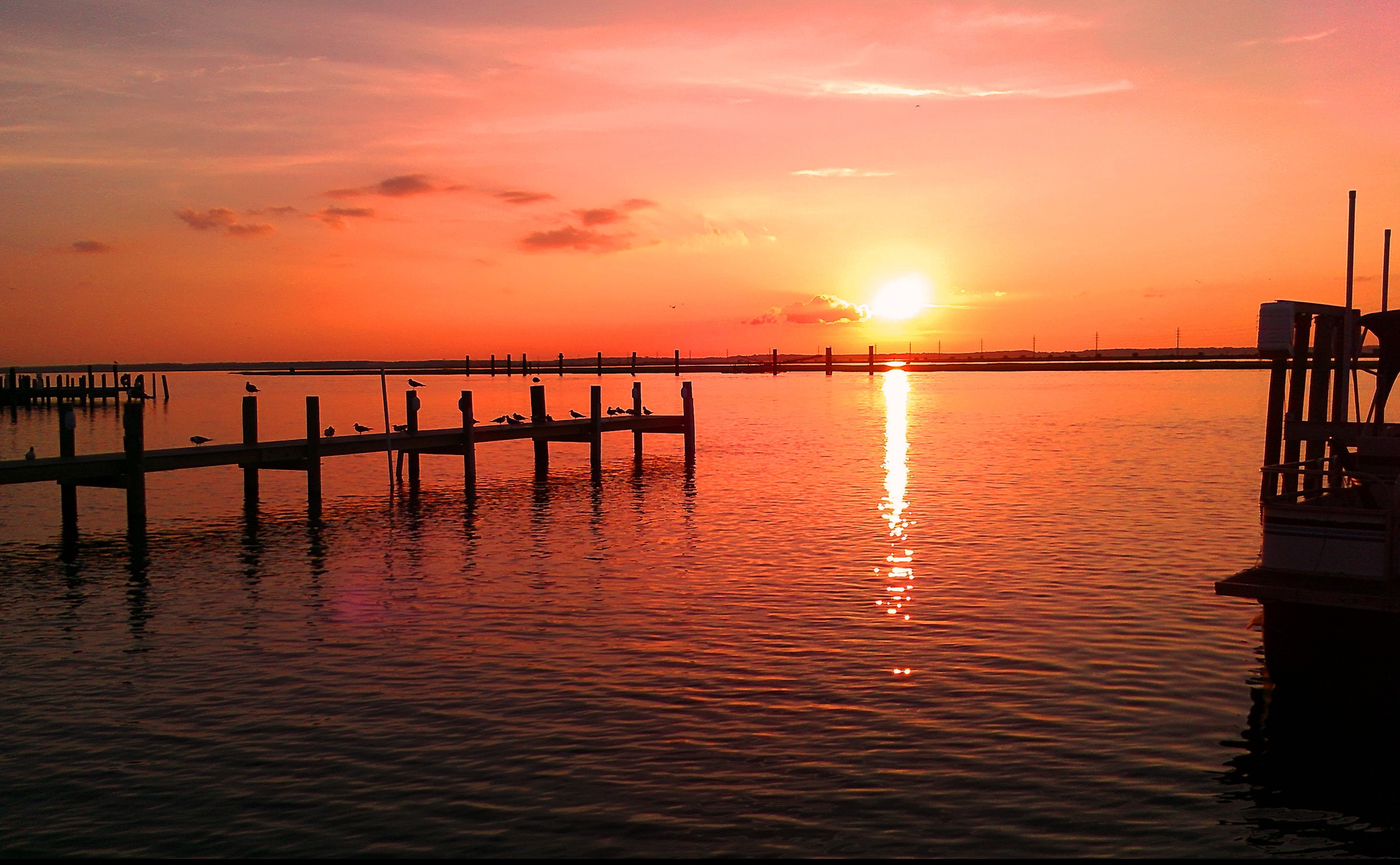 picallscom beautiful sunset at the pier by hilary