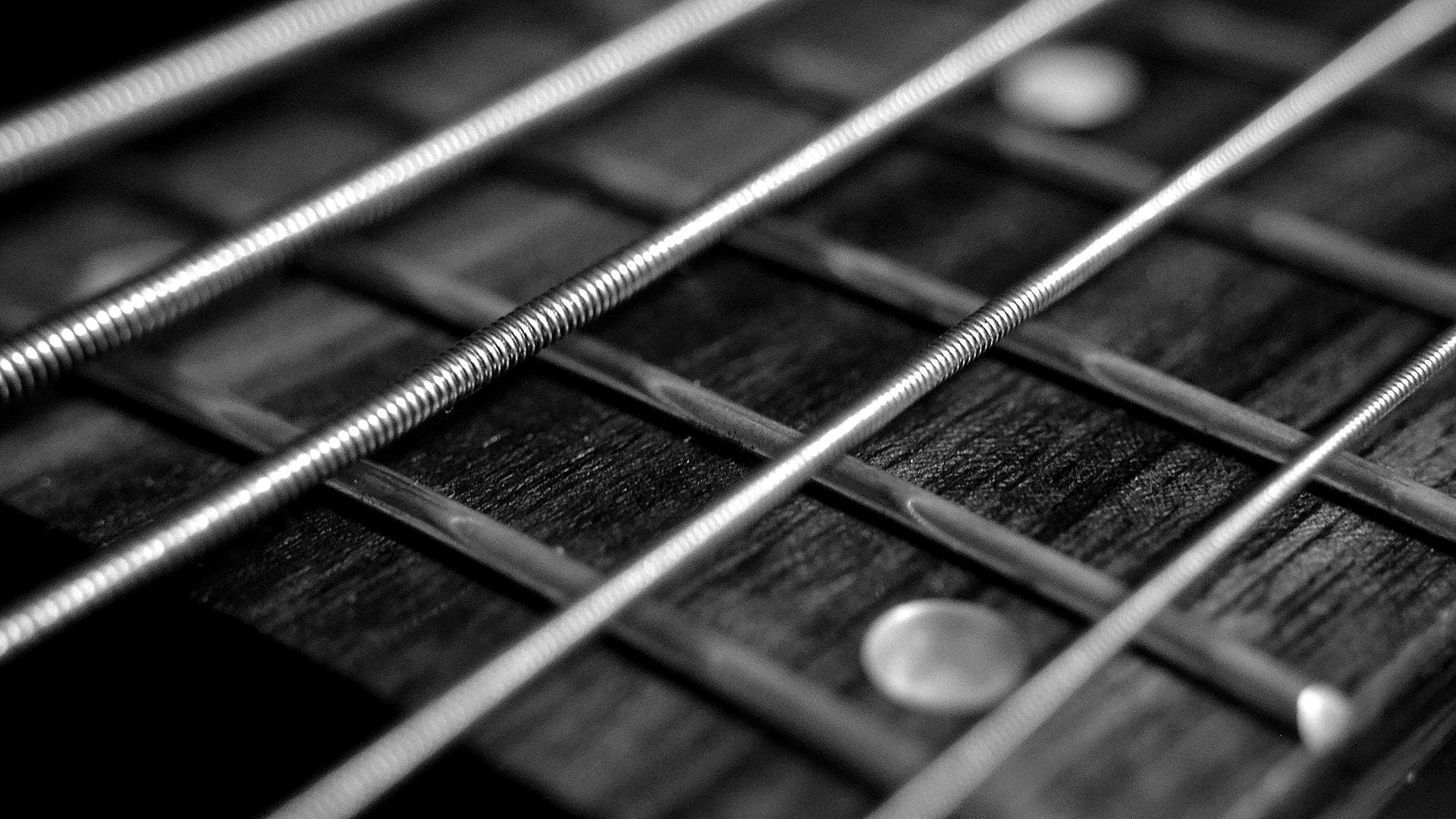 Guitar strings, ropes, mast, guitar, music