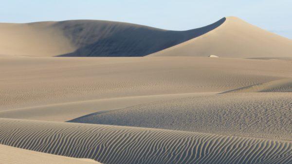 Sand dunes in the desert, desert, dunes, sand, heat, mountains, wind