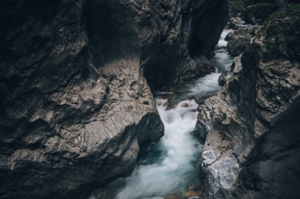 Shaping the rocks, river, stream, rocks, water, stream, stones, gray