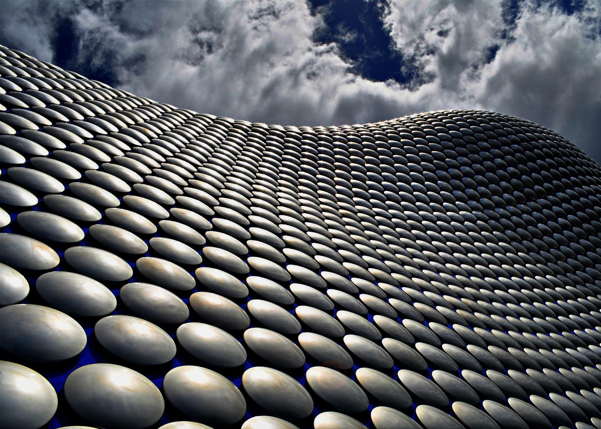 Skin building, architecture, metal, circles, skin, scales, design