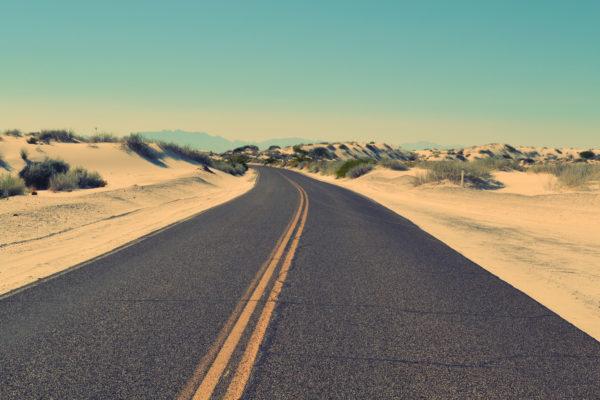 Road in the desert, desert, highway, road, heat, sand, solitude