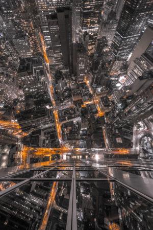 City lights, lights, street, city, buildings, skyscrapers, windows, light