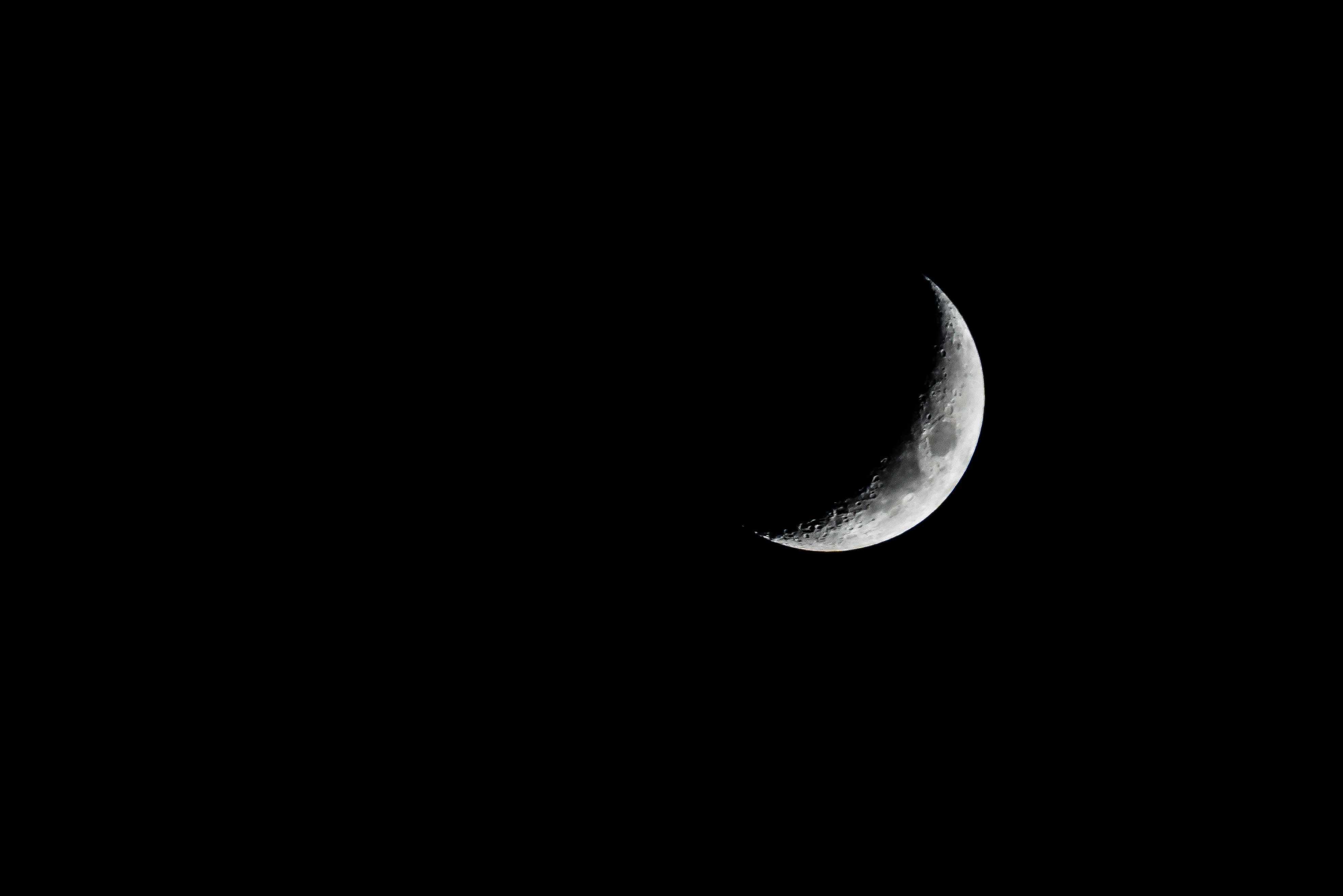 New moon, moon, sky, space, lunar, moon, night, white and black