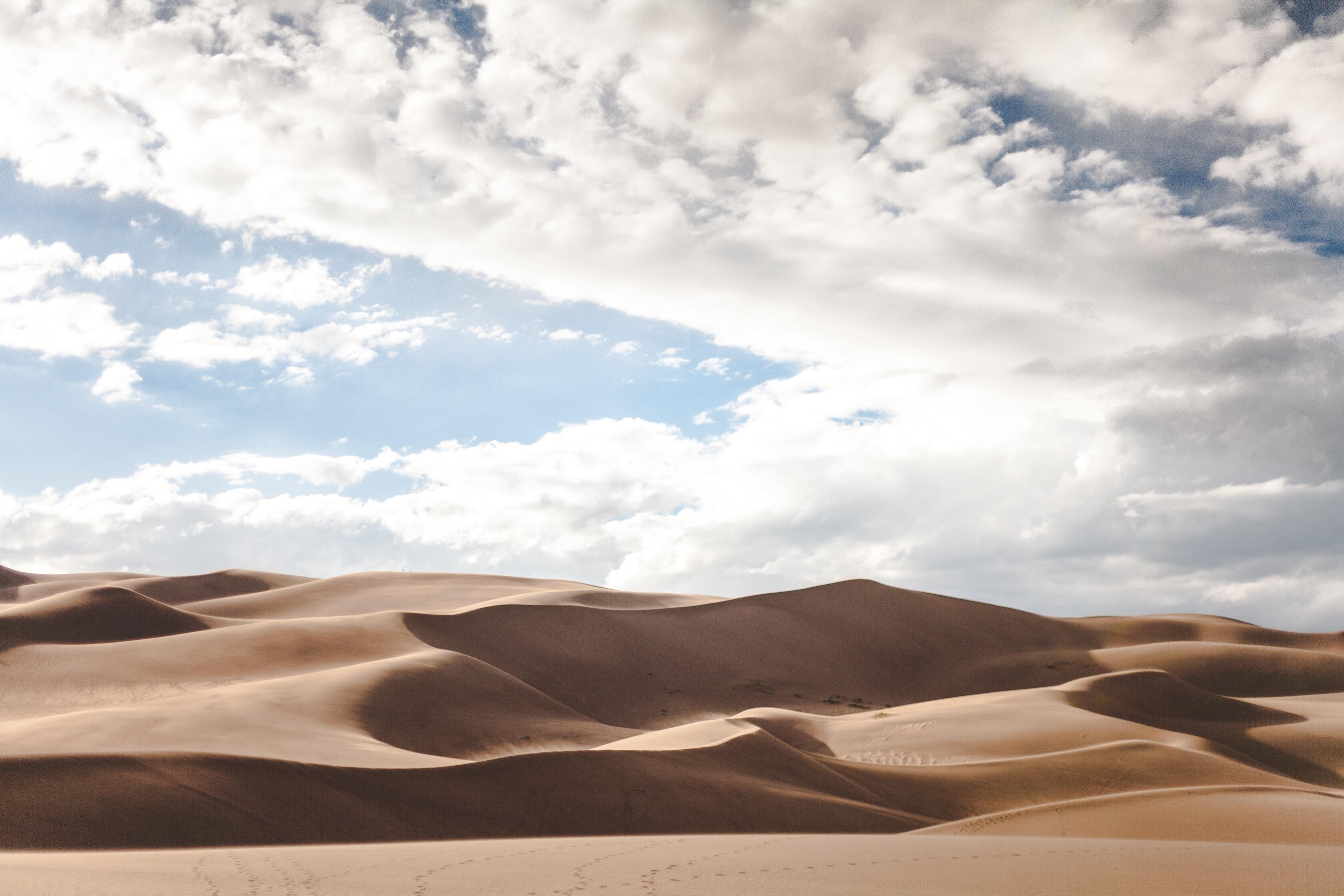 Sand dunes, dunes, desert, heat, sand, dunes, wind
