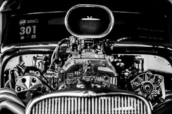 Engine car, engine, auto, car, hot rod, antique, restored, silver, chrome