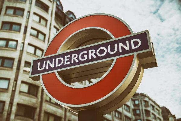 Underground sign, London, England, poster, underground, street