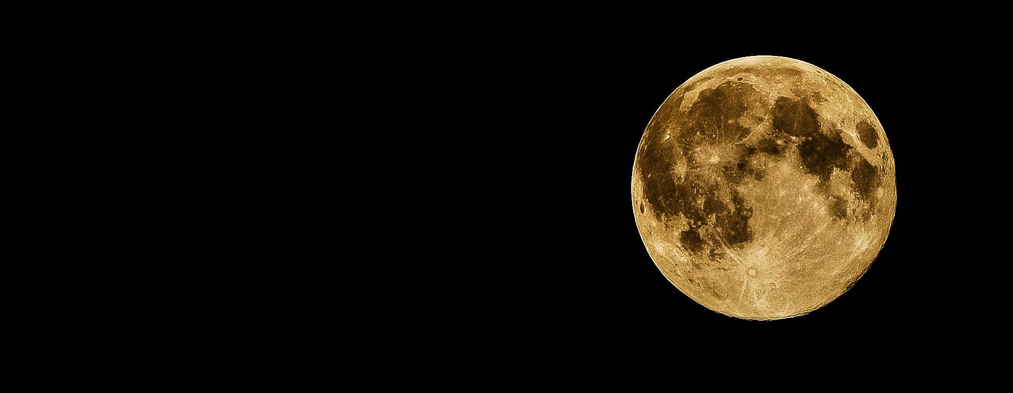 Yellow Moon, moon, full moon, big moon, night, night sky, space