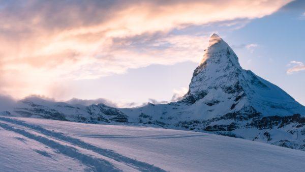 Mountain peak the Swiss Alps, mountain, snow, cold, rocks, peak, alp