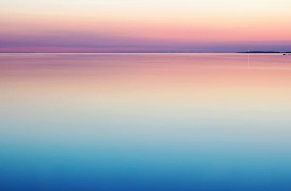 Pink horizon, pink, sunset, sea, ocean, coast, lake, infiniti, vanishing point