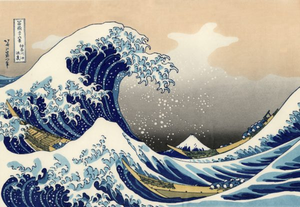 The Great Wave off Kanagawa, the wave, the great wave, Kanagawa, art, sea, sea, japan, Katsushika Hokusai, picture, drawing, painting