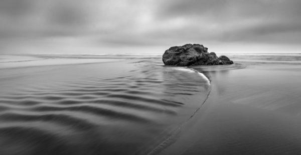 Rock in the middle of the beach, rock, beach, coast, sea, ocean