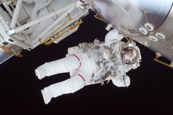 Astronaut on space walk, astronaut, space, outside, space suit, ship