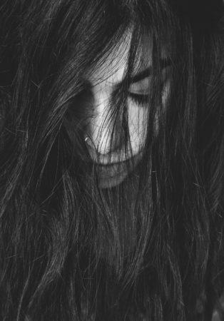 Hair woman, woman, black and white, head, hair