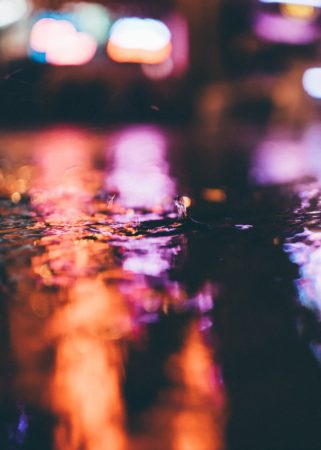 Reflection of colors in water, water, colors, light, reflection, drop, splash