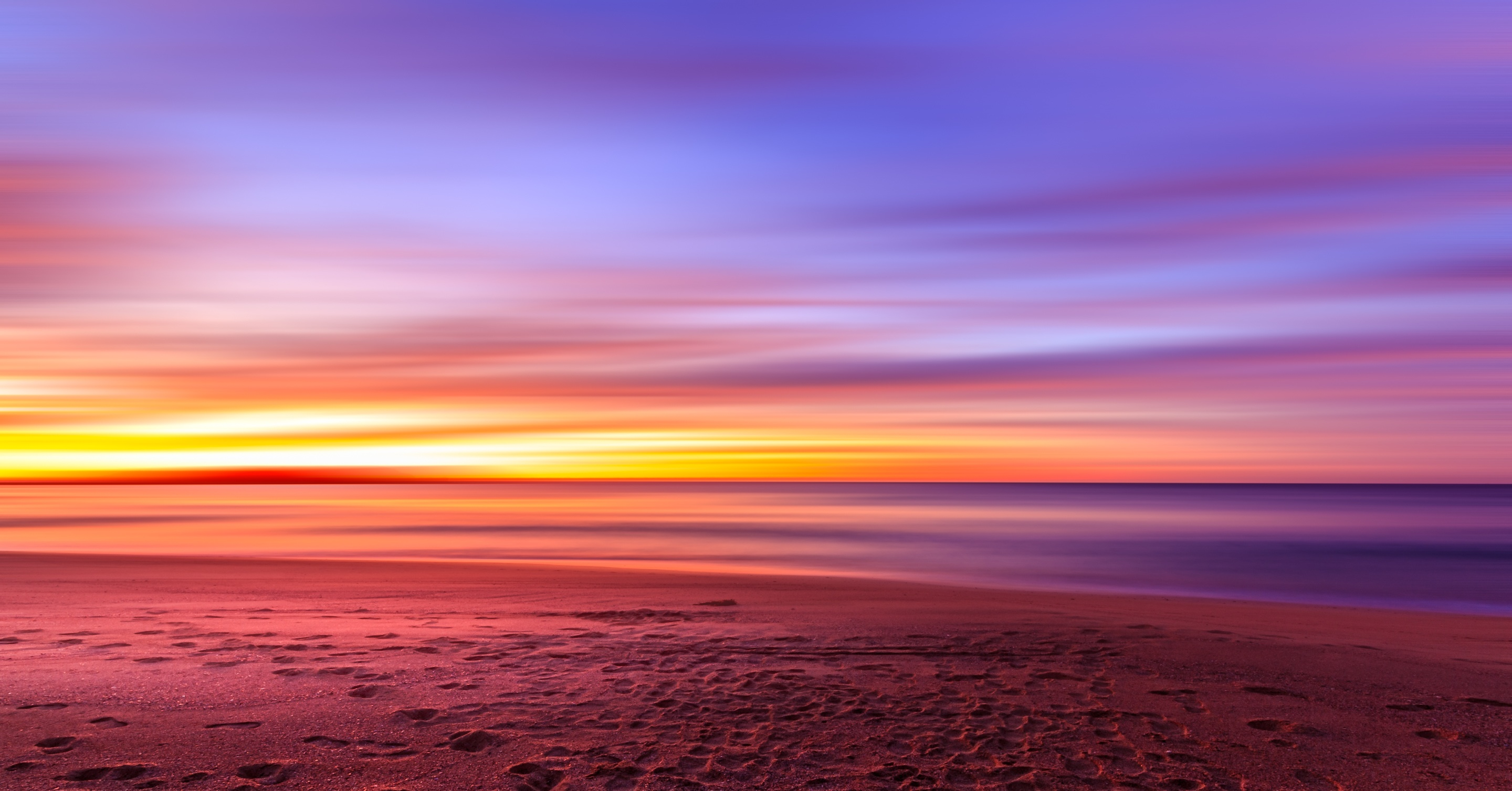 Colors of sunrise on the beach, sunrise, beach, sun, sand, ocean, water, sea