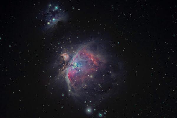 The Orion Nebula, Nebula, space, stars, infinity