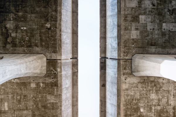 Concrete bridge, bridge, concrete, road, city, cement, architecture, engineering