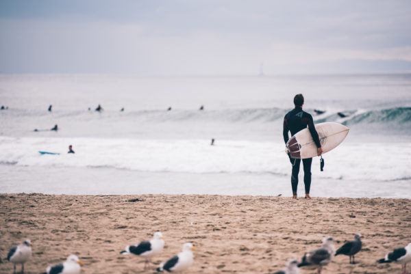 Waiting for the big wave, surfer, sports, waves, water, sea, ocean, surf